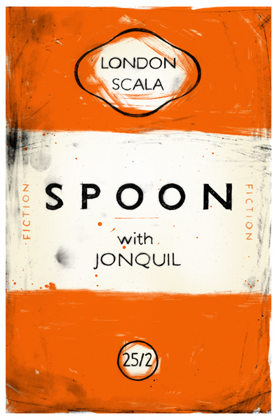Penguin Book Cover Posters : Penguin inspired gig poster for spoon « book cover archive